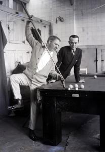 W. C. Fields Gets Billiard Lesson